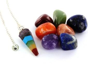 Seven Chakra Kit Tumble Pendulum