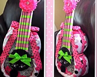 Guitar diaper cake,