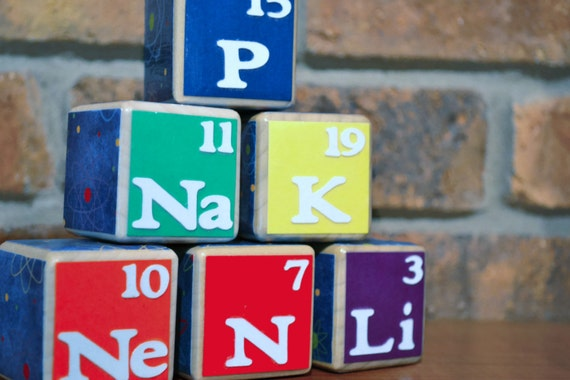 Periodic Table Wooden Blocks