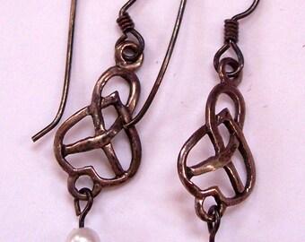 Sterling Silver & Pearl Drop Pierced Earrings