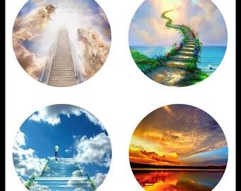 Heaven - Images Of Heaven - Heaven Images - 30mm Bezels - Instant Download - Digital Download Sheet - Collage Sheet - 30mm Circles - DDP327