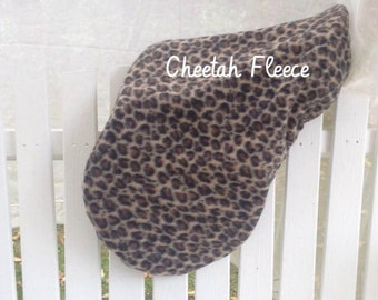 Clearance sale  Ready to Ship! CHEETAH animal print Equine Horseback Riding Saddle Cover English all purpose  saddle protection