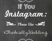 If You Instagram Wedding - Wedding Prints - Vintage Print - Vintage Wedding - Chalkboard Instagram Print - Rustic Wedding -Chalkboard