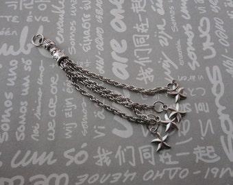 20pcs antique silver color metal tassels , starfish tassel pendant , starfish tassel charm , 75mm length , CP289