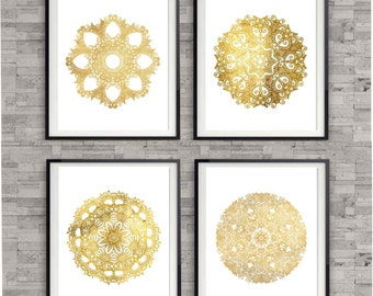 Gold Wall Decor, Gift Idea for her, Gold Wall Art Prints Gold Bedroom Art  Prints, Gold Office decor, Gold Gallery Prints, Wall Decor Prints