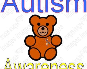 Printable Autism Awareness Digital Image for Instant Download  Autism Awareness Instant Download