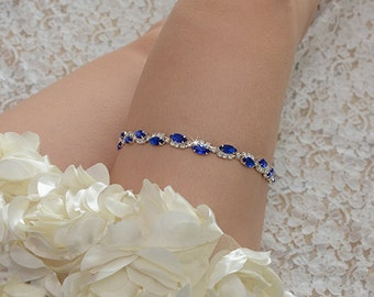 bridal garter, wedding garter, whit lace garter, rhinestone garter,jewelry blue chain garter,something blue garter