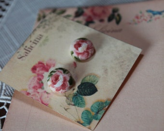 shabby PINK earrings