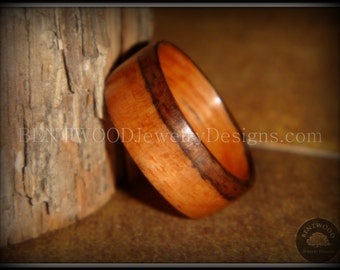 Bentwood Ring - Pau Ferro (Santos Rosewood) Handcrafted Wood Ring for an extremely durable, unique and beautiful wood ring.