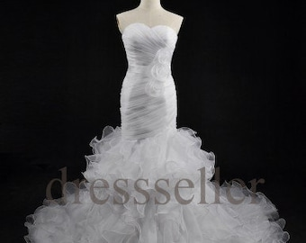 Tiered long wedding dresses bridal gowns formal wedding dresses