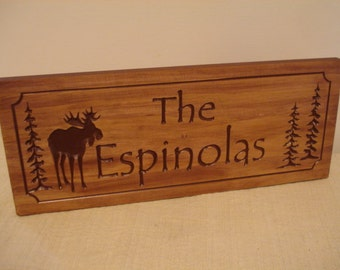 Moose Lodge Personalized Wood Carved Plaques Rustic Signs Wood Cabin Lodge Camp Signs Camping Fathers Day Benchmark Signs