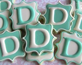 Monogram Cookies Elegant for Wedding Engagement Party Anniversary Baptism Christening