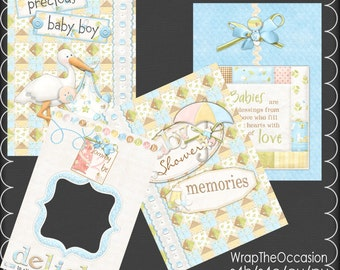 Boy Baby Shower Brag Book