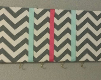 Chevron Bow/Headband Organizer