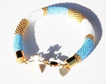 Beadwoven sunny bracelet