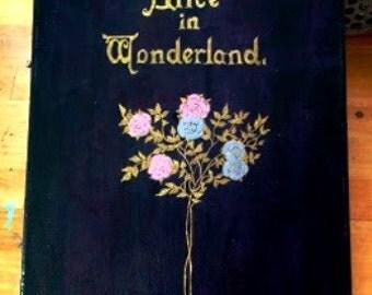 Alice In Wonderland. OOAK original painting.