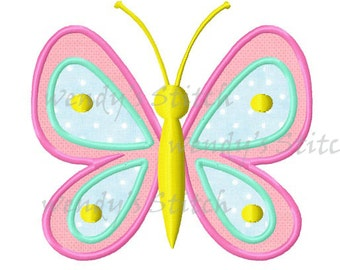 Butterfly 3 applique machine embroidery design digital pattern