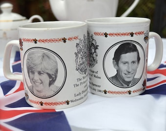 A Royal Tea Party - Charles and Diana Wedding Commemorative China Mug  English