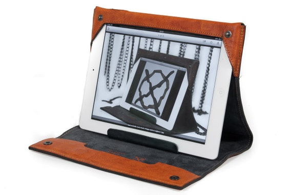 iPad 10.5 or 9.7 Pro or Air 1 and 2 & Retina 5 4 3 and 2 leather case Made by Vegetable Italian Tanned Leather (choose device and colour)