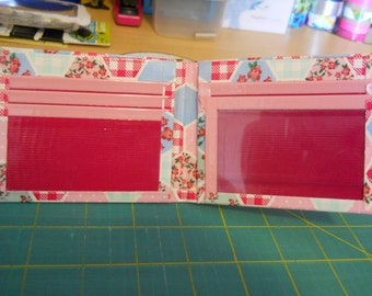 Prairie Patchwork, Scented Dark Fuchsia, and Scented Pastel Pink Duct Tape Wallet
