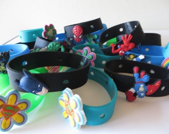 REDUCED PRICE - Crocs Wristband and Charm - Pick the theme you want - wrist bands - - party favors, birthdays, Halloween