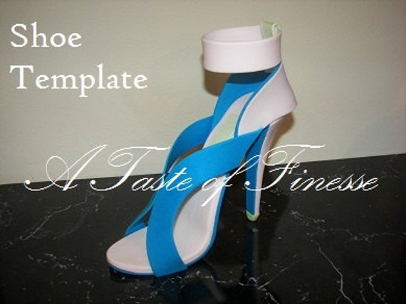 items similar to fondant high heel shoe template on etsy