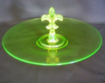 Carnival Glass Fostoria June Sandwich Server - 2934