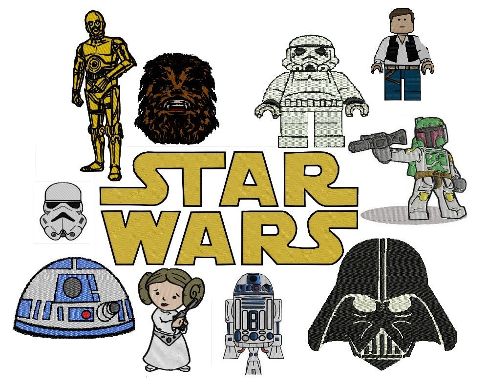 Star wars machine embroidery patterns by lasomethingspecial