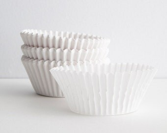 Solid White Cupcake Liners