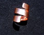 Copper ring, satin polished copper jewelry