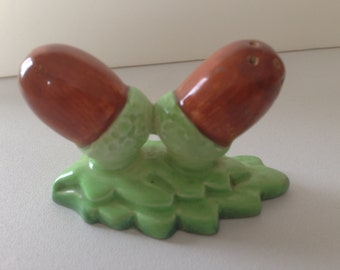 Carlton Ware Acorn Salt and Pepper.