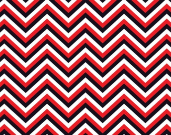 Red black and white chevron craft  vinyl sheet - HTV or Adhesive Vinyl -  zig zag pattern HTV122