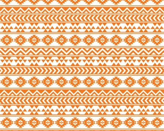 Orange and white tribal pattern craft  vinyl sheet - HTV or Adhesive Vinyl -  Aztec Peruvian pattern HTV909