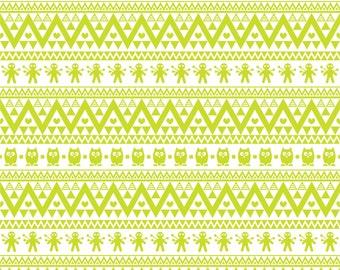 Lime owl tribal pattern craft  vinyl sheet - HTV or Adhesive Vinyl -  Aztec Peruvian pattern HTV305