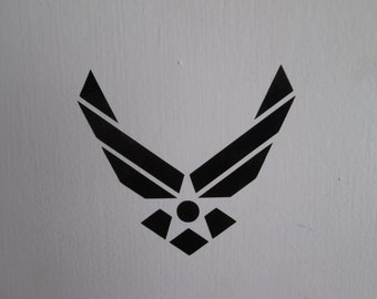 Air Force  symbol decal sticker, several sizes and colors to choose from