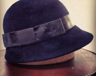 Handmade Cloche Hat, choice of colour, material, band - made to measure
