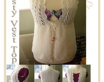 Modesty Vest in Aran Instant download PDF
