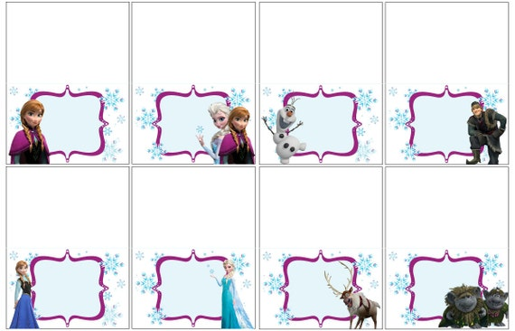 Striking image inside frozen printable labels