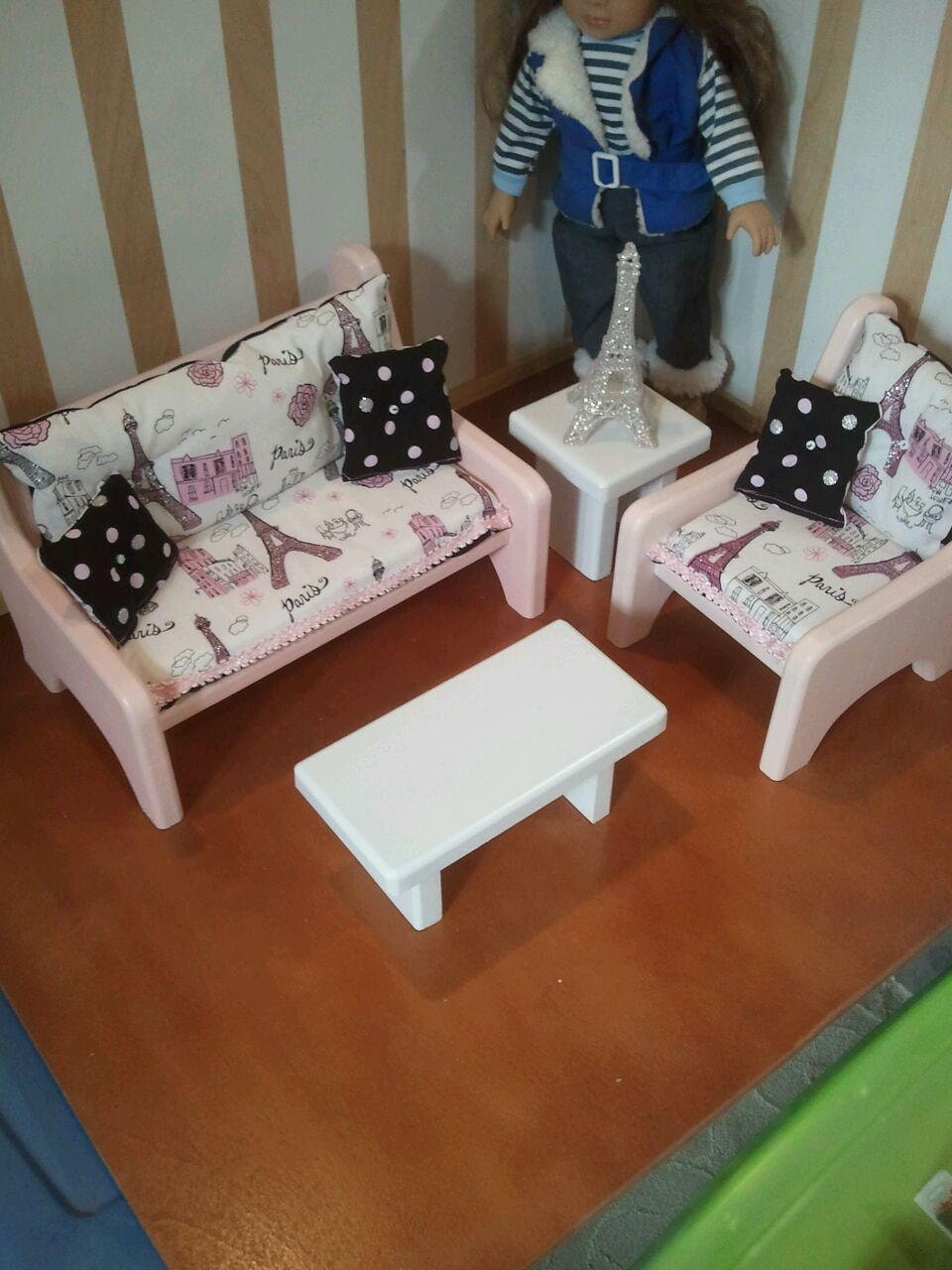 american 18 doll sized furniture sofa by customwoodworkx