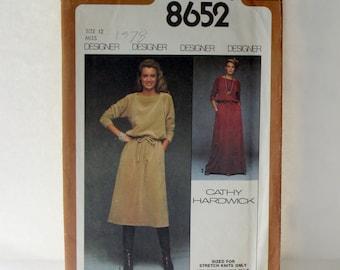 Vintage Sewing pattern 1978, Designer Vintage Sewing Pattern, Cathy Hardwick Designer Vintage Sewing pattern 1978, Size 12 Vintage Pattern