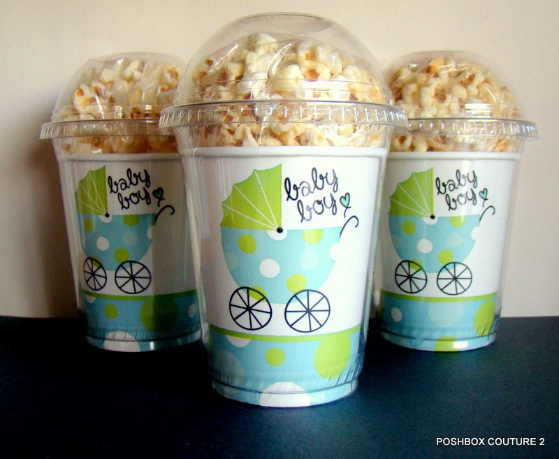 it 39 s a boy baby shower popcorn boxes