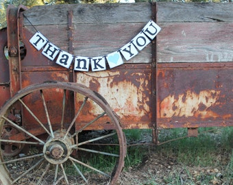 Wedding Banner Wedding Thank You Banner  Rustic Country decoration or sign
