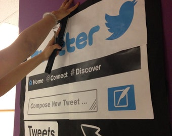 Printable Twitter Reading Wall Classroom!!