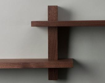 Flat Pack Walnut Shelf