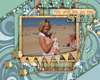 Digital Scrapbooking, Ombre, Textured Two Tone Papers: By The Sea
