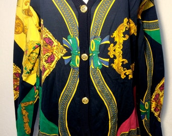 FREE  SHIPPING   1980's Versace Style Jacket