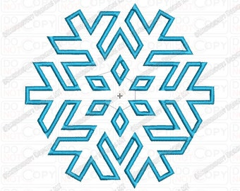 Snowflake 2 Applique Embroidery Design in 2x2 3x3 4x4 and 5x7 Sizes