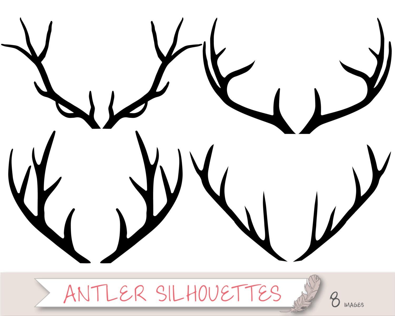 Baby Deer Silhouette Clip Art Antler silhouette clipart