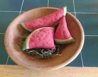Primitive Watermelon Bowl Filler - 3 piece set