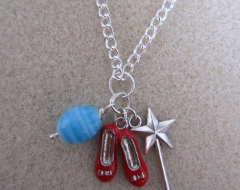 Ruby Slipper Necklace